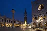 Italy, Venice, St Mark's Square at night - FOF005689