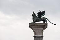 Italy, Veneto, Venice, St. Marcus square, Lion Statue - FO005885
