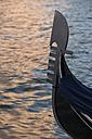 Italy, Veneto, Venice, Detail of a gondola - FOF005884