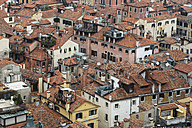 Italy, Venice, View from Campanile on house roofs - FO005920