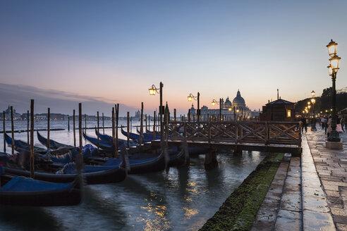 Italy, Venice, Gondolas and church Santa Maria della Salute - FO005925