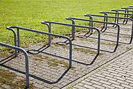 Germany, Duesseldorf, bicycle stand - WIF000341