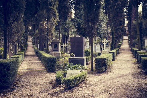 Italy, Rome, view to Protestant cemetery - DIS000454