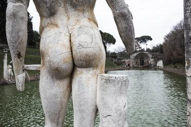 Italy, Tivoli, part of torso at pool of Hadrian's Villa - DIS000411