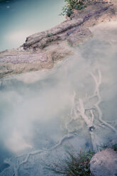 Italy, Tuscany, Val d'Orcia, Bagni San Filippo, Hot spring at Fosso Bianco - MJF000815