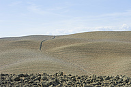 Italy, Tuscany, Val d'Orcia, Plowed field - MJF000852