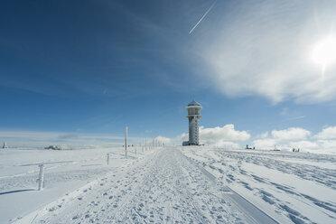 Germany, Baden-Wuerttemberg, Black Forest, Feldberg, Feldberg Tower in winter - PAF000319