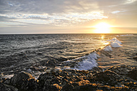 Indonesia, Lombok, Sunset at Senggigi beach - KRPF000196