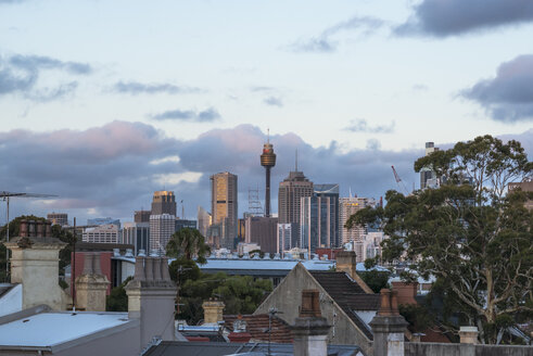 Australia, New South Wales, Sydney, skyline at dusk - FBF000218