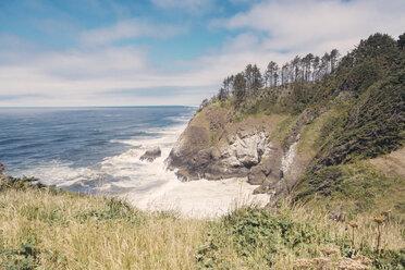 USA, Oregon, Bay at rocky coastline - MFF000856
