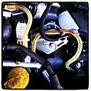 Car engine, supply hoses, Germany, North Rhine-Westphalia, Minden - HOH000427