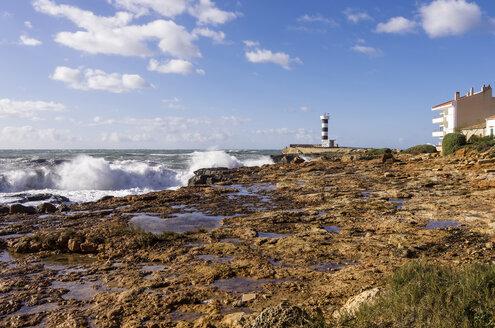 Spain, Balearic Islands, Mallorca, Colonia de Sant Jordi, coast and light house - THAF000029