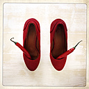 Red Pumps with chilli, Studio, Freiburg, Germany - DRF000489