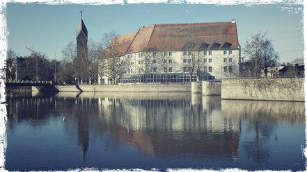 Kaiserhof, Isar, Reflection, Landshut, Bavaria, Germany - SARF000228