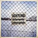 danger sign, beware of bulls, Brandenburg, Germany - ZMF000203