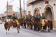 USA, Texas, San Antonio, Horse Unit of US Border Patrol - ABA001234