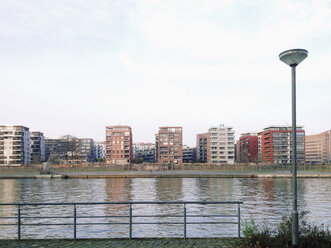 View of Ostend, the right bank of the Main in Frankfurt, Hesse, Germany - MSF003241
