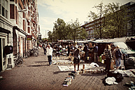 Netherlands, Amsterdam, view to flea market at Waterlooplein - HOH000458