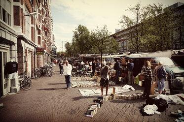 Netherlands, Amsterdam, view to flea market at Waterlooplein - HOH000458