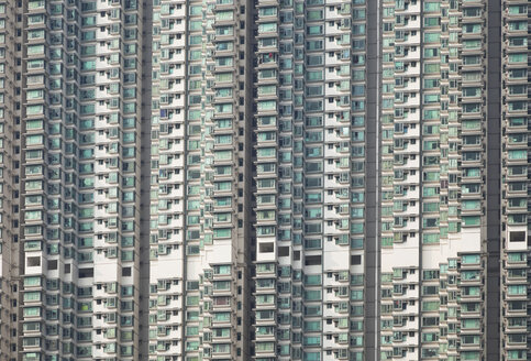 China, Hongkong, Lantau Island, Tung Chung, high rise residential buildings - GWF002556