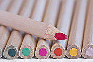 Row of colored pencils, macro - YFF000032
