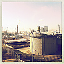Refinery in the industrial area in Linz, Linz, Upper Austria, Austria - MSF003306