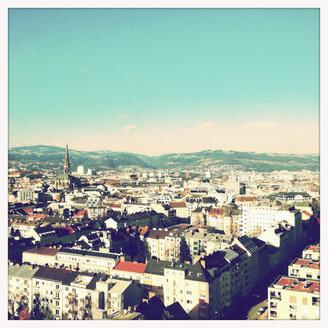 Overlooking of the city of Linz from Wissensturm, Linz, Upper Austria, Austria - MSF003317