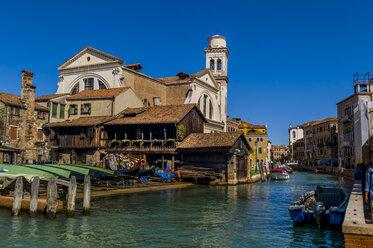 Italy, Venice, Gondola builder at Rio di San Trovaso - EJWF000249