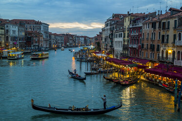 Italy, Venice, Canale Grande at dusk - EJWF000286