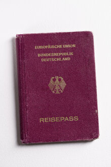 Close up of German passport - MY000172