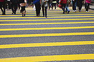 China, Hongkong, view of pedestrian crossing - GW002566