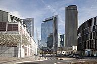 Germany, Hesse, Frankfurt, Skyscrapers at trade fair premises - WI000382