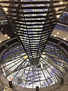 View from Reichstag dome into parliament with eagle, Berlin, Germany - FB000237