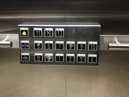 elevator buttons to 13th floor - FBF000235
