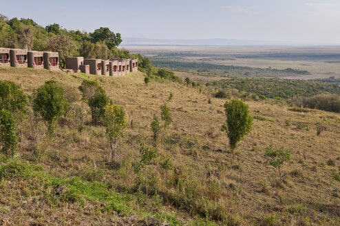 Africa, Kenya, View from the Mara Serena Safari Lodge in the Maasai Mara National Reserve - CB000293