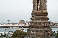 Thailand, Bangkok, view to Wat Arun and Chao Praya River - CR002583