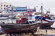 Morocco, Essaouira, Kasbah, fishing harbor - THA000101