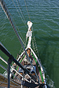 New Zealand, North Island, Northland, Bay of Islands, sailing ship, view from mast - JB000015