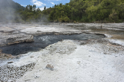 New Zealand, North Island, Bay of Plenty, Orakei Korako, boiling water, geothermal energy - JB000043