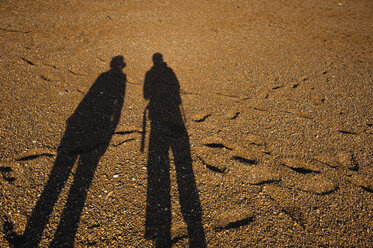 New Zealand, North Island, Northland, Bay of Islands, Russell, shadows at Russell Beach - JB000054