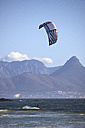 South Africa, Wakeboarder in front of Table mountain and Cape Town - AK000297