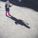 Little Girl with Rose, shade, curiosity, Munich, Bavaria, Germany - GSF000753