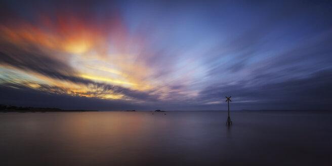 Great Britain, Scotland, East Lothian, North Berwick, sunset - SMAF000188