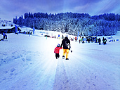 two snowboarder, Eschach, Bavaria, Germany - JED000136