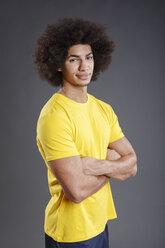 Portrait of Brazilian  soccer player, studio shot - VTF000098