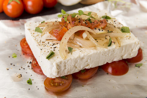 Preparation of low carb dish baked Feta cheese - CSTF000011