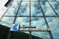 Switzerland, Canton Zurich, Zurich, facade of Prime Tower with logo of Zurich Cantonal Bank - EL000881