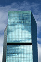 Switzerland, Canton Zurich, Zurich, view to facade of Prime Tower with reflecting clouds - EL000887