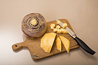 Chopped swede on chopping board - CSTF000073
