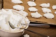 Bowl of beaten egg white for meringues - CSTF000029
